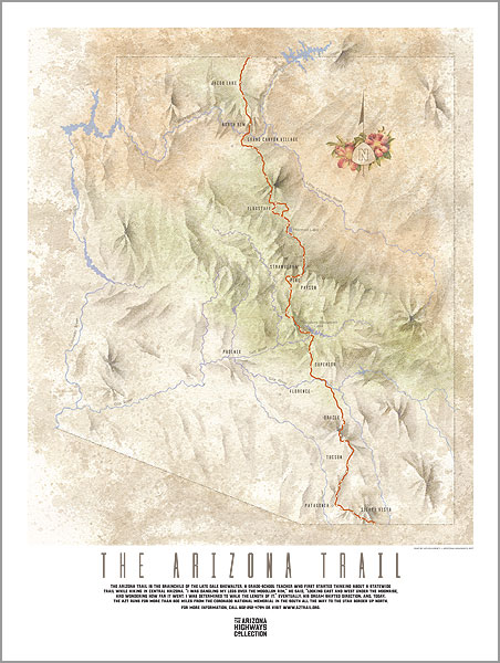 Arizona Trail Map Poster