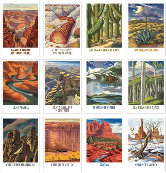 Explore Arizona! Postcards