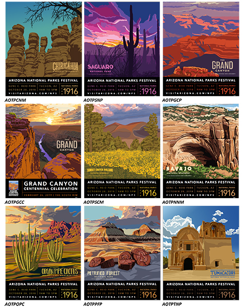 Arizona's National Parks Poster Collection