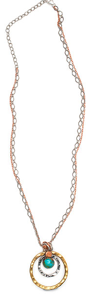 Tri-metal Orbit Necklace