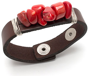 Natural Leather Cuff Bracelet
