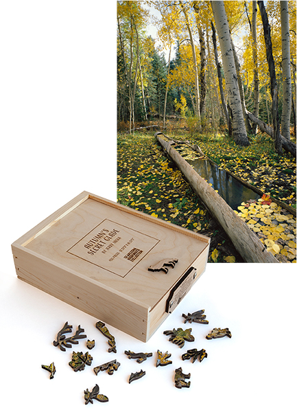 Autumn's Secret Glade Wooden Puzzle