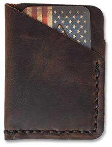 Tall Minimalist Leather Wallet