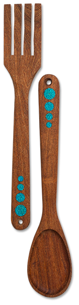 Mesquite Wooden Fork and Spoon