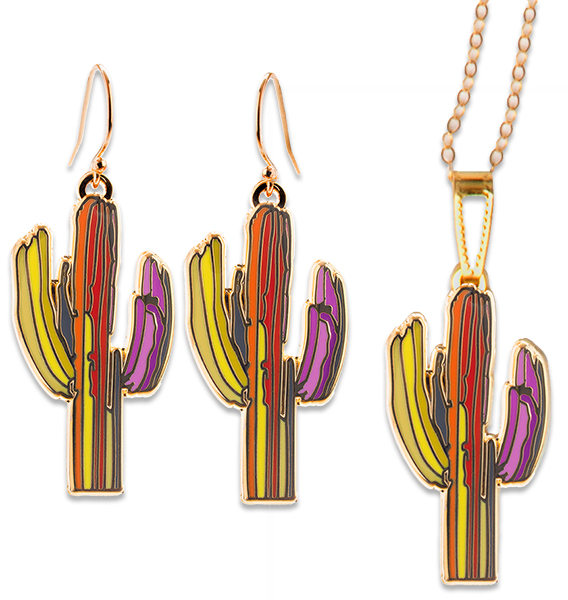 Technicolor Saguaro Jewelry