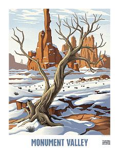December, Monument Valley