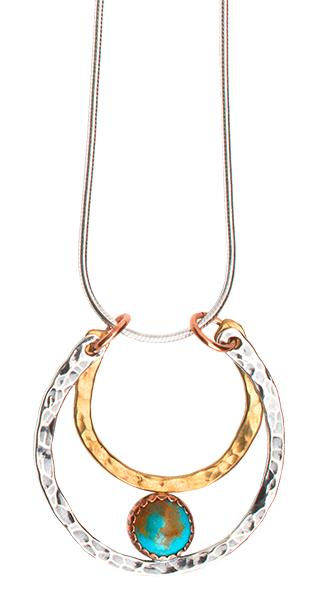 Hand-Cast Lucky Horseshoe Necklace