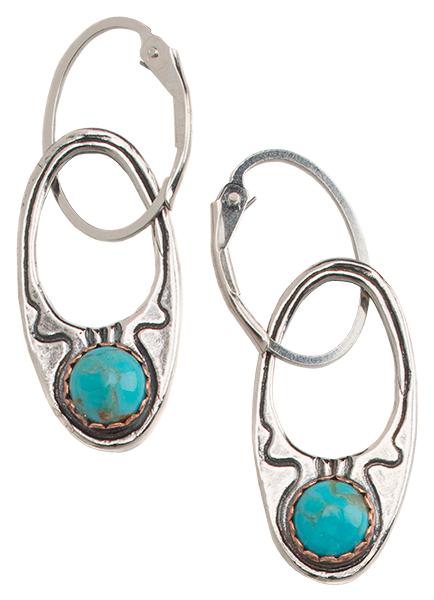 Hand-Cast Rising Moon Earrings