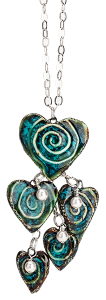 Tiered Porcelain Heart Necklace