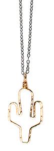 Gold Cactus Necklace